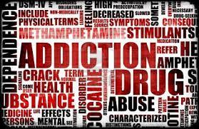 graphic of addiction phrases