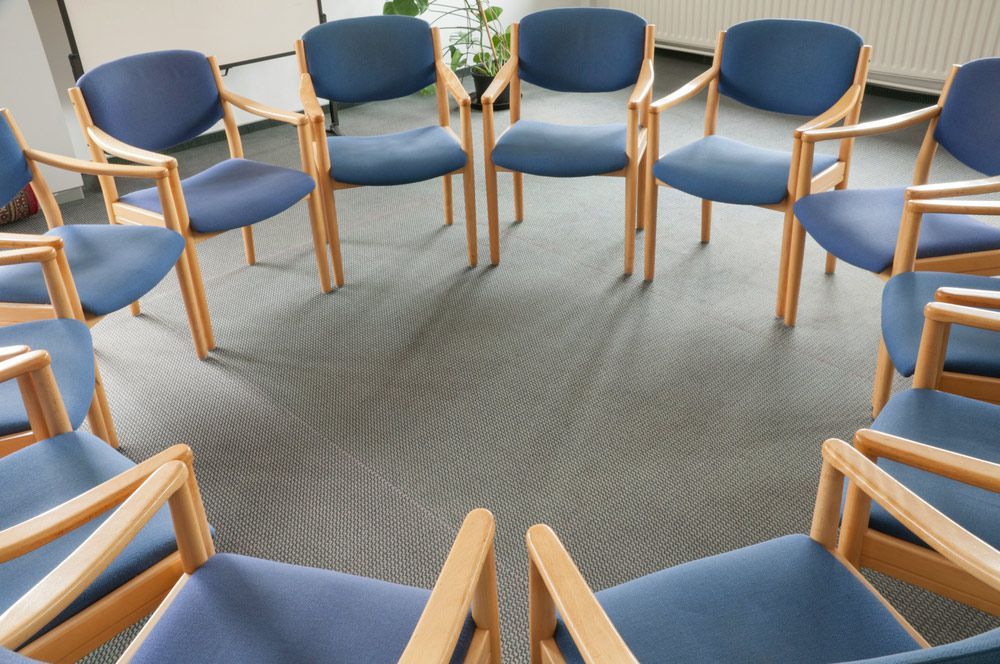group therapy circle chair