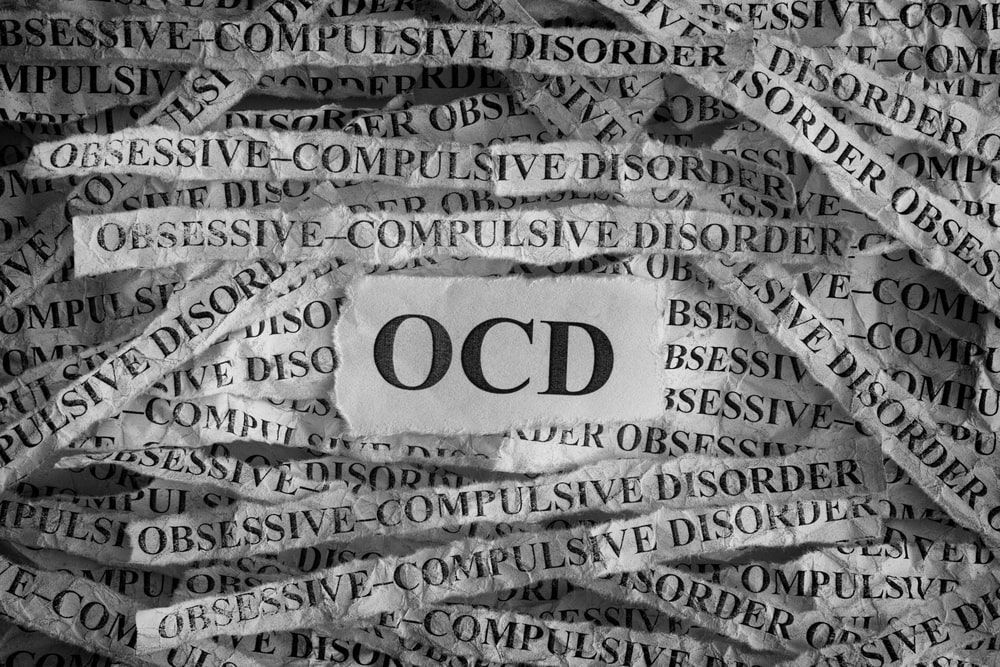 strips of paper saying obsessive compulsive disorder