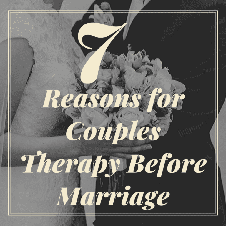 """title banner for """"7 reasons for couples therapy before marriage"""""""