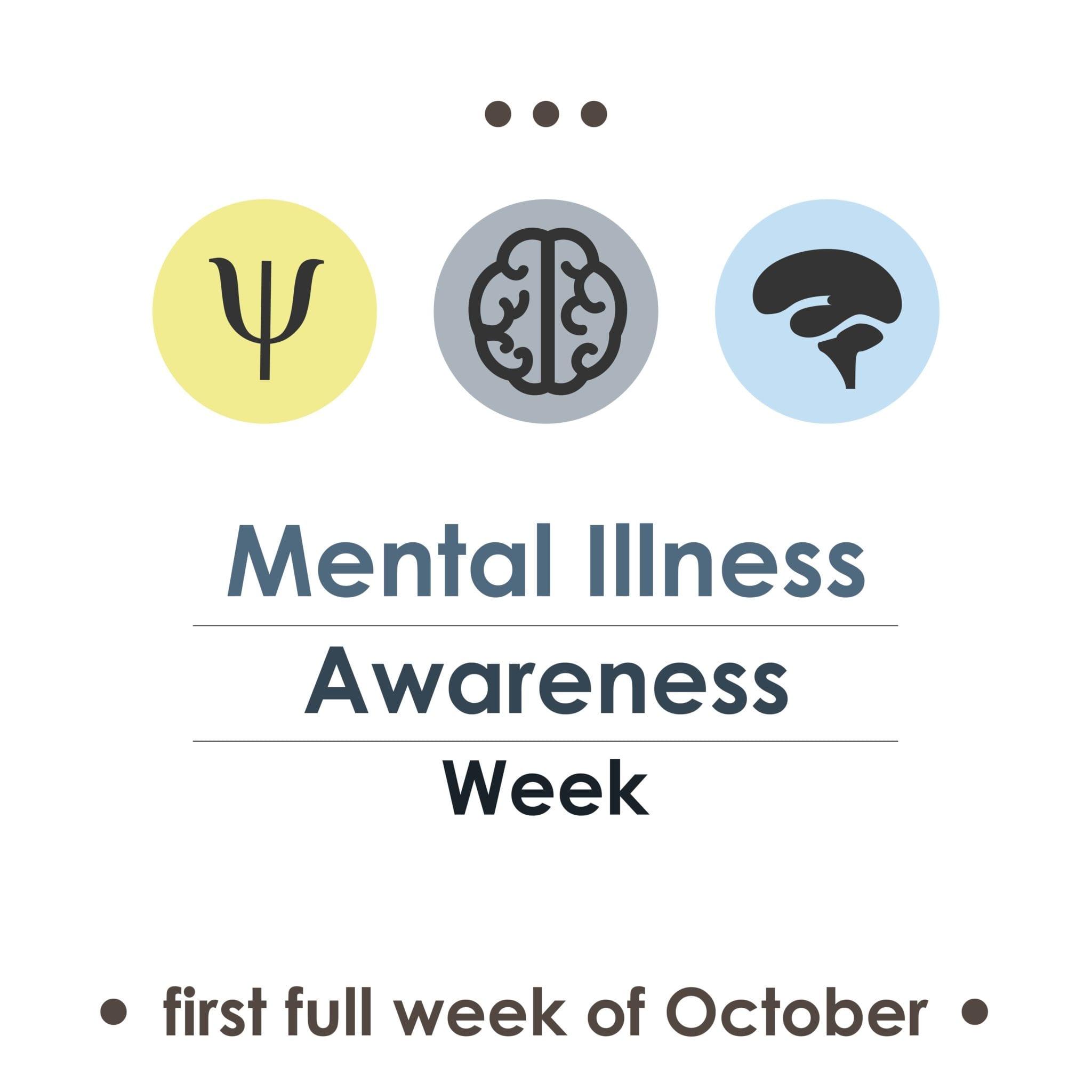 Banner for mental illness awareness week in October