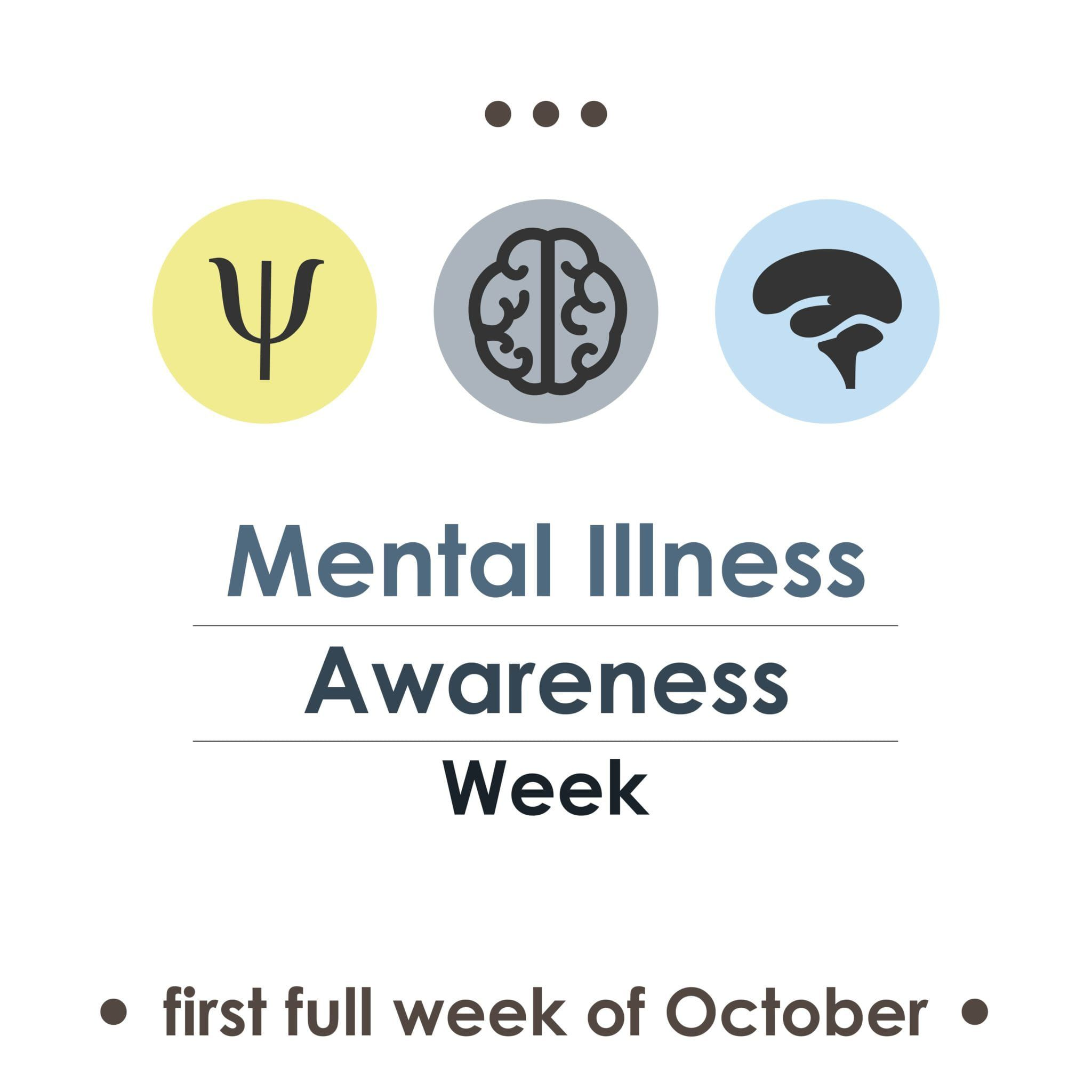 Banner for mental illness awareness week in October