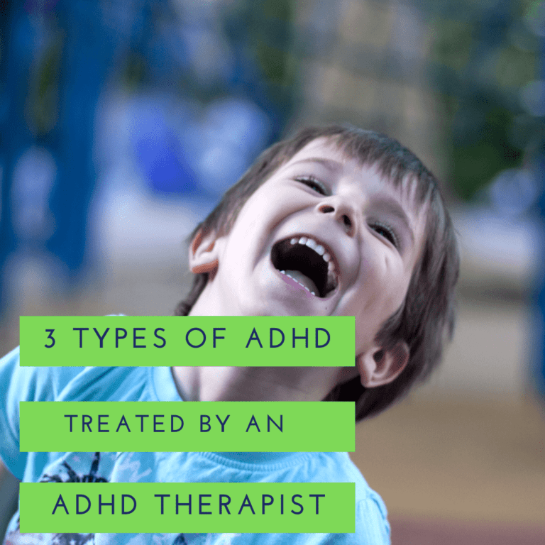 3 types of ADHD treated by an ADHD therapist