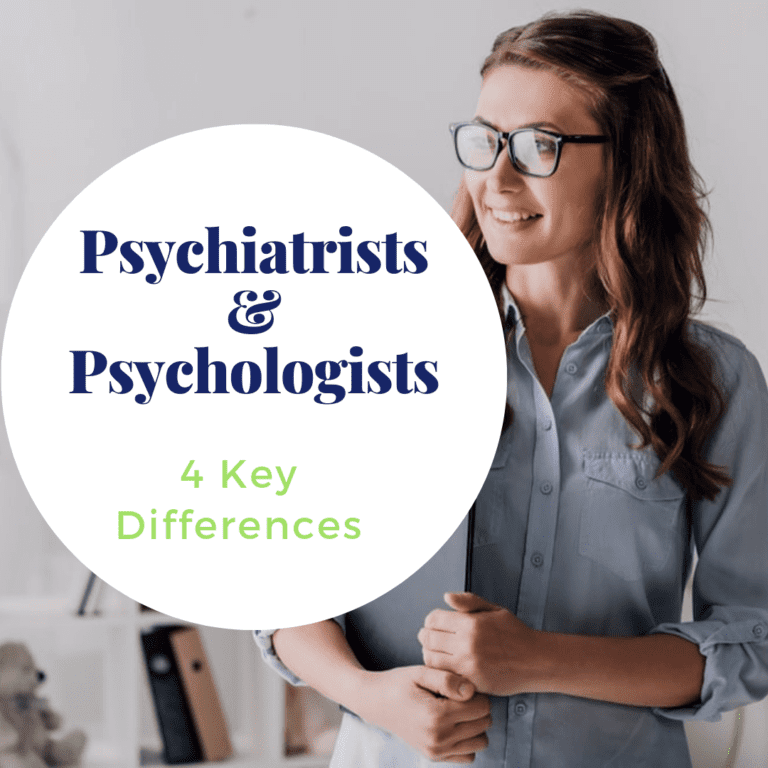"""title banner for """"psychiatrists and psychologists: 4 key differences"""""""