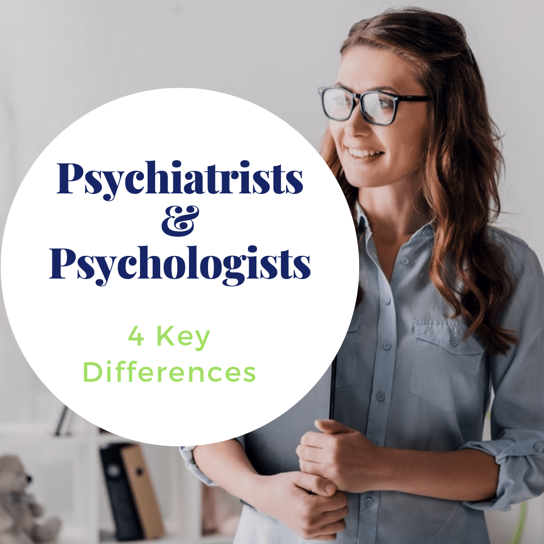 "title banner for ""psychiatrists and psychologists: 4 key differences"""