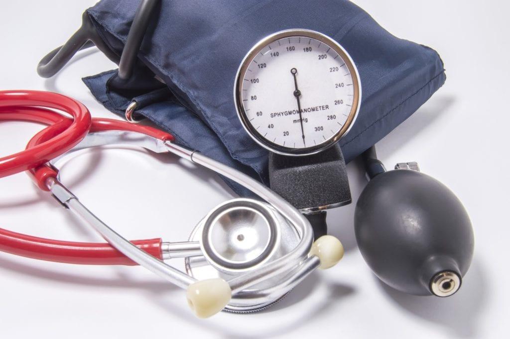 stethoscope and blood pressure cuff