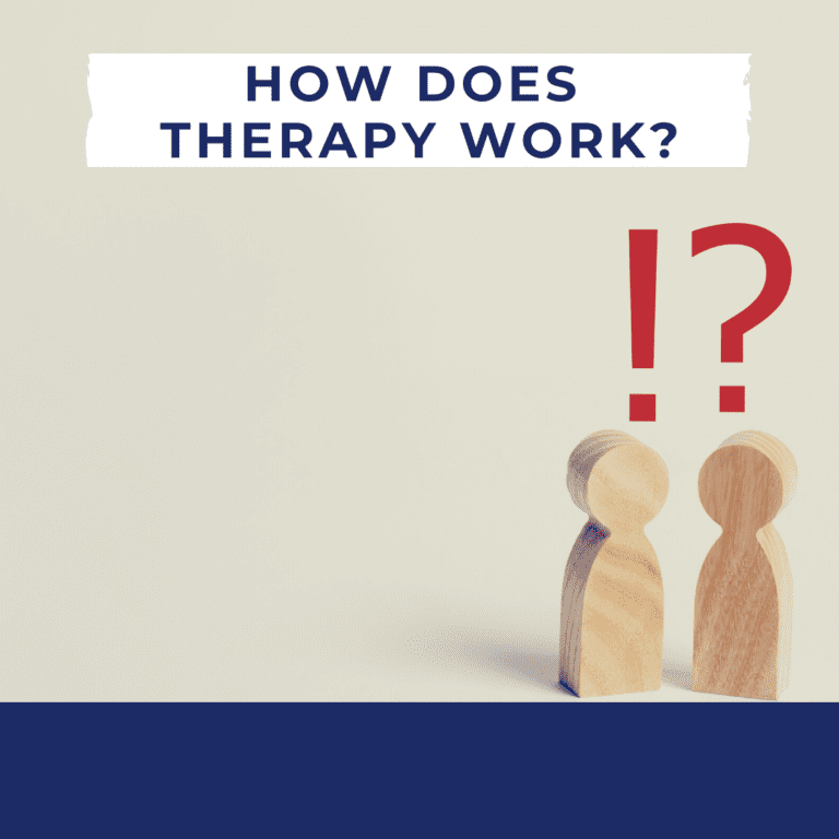 photo with the words How Does Therapy Work_