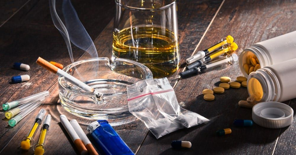various types of substances people get addicted to