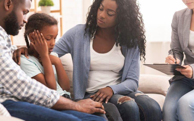 Family connecting through open dialogue