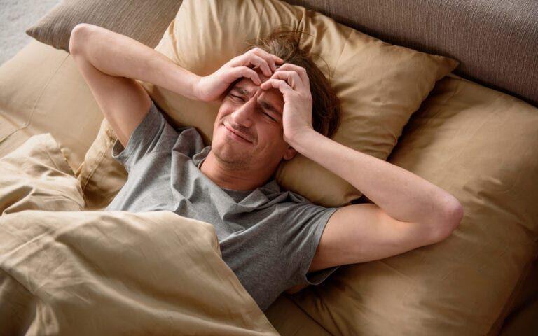 Man battling bout of depression in bed