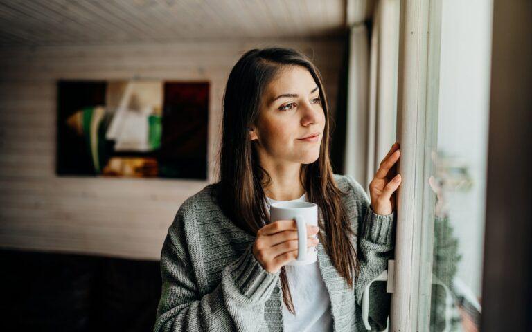 Woman remembering lost pet